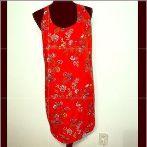 Red Floral Old Navy Dress